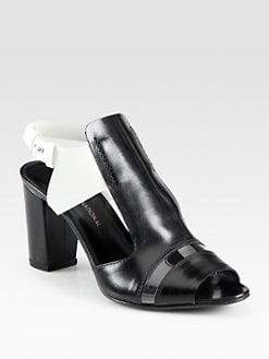 Costume National - Bicolor Leather Ankle Strap Sandals
