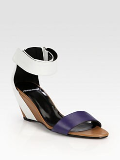 Pierre Hardy - Leather Ankle Strap Wedge Sandals