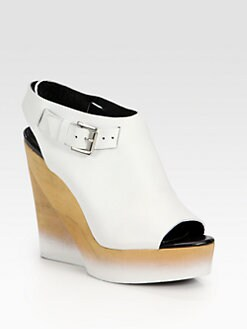Pierre Hardy - Leather Wooden Wedge Slingback Sandals