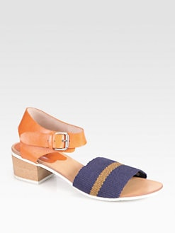 A Detacher - Sherman Striped Leather Sandals