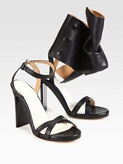 Maison Martin Margiela - Mismatched Leather Ankle Strap Platform Sandals