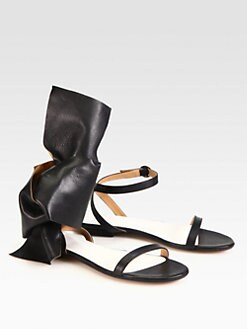 Maison Martin Margiela - Mismatched Leather Ankle Strap Sandals
