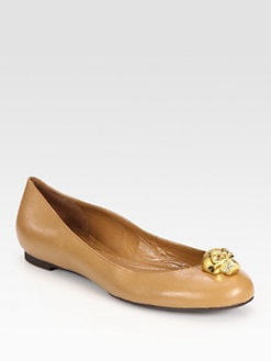 Alexander McQueen - Skull Leather Ballet Flats