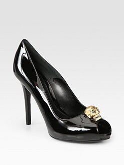 Alexander McQueen - Skull Patent Leather Platform Pumps