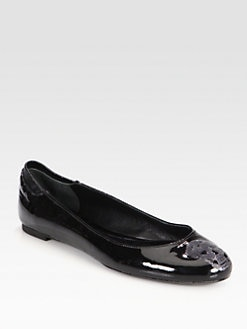 Alexander McQueen - Patent Leather Skull Ballet Flats