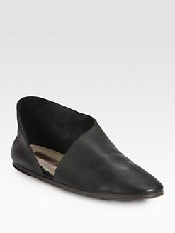 Marsell - Aymmetrical Leather Flats