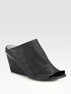 Marsell - Leather Wedge Mules