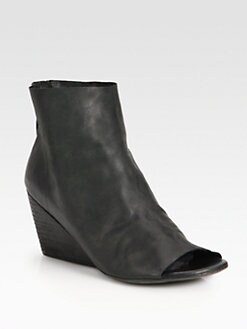 Marsell - Leather Wedge Ankle Boots