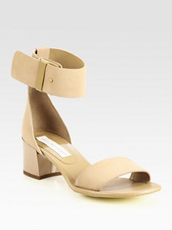 Stella McCartney - Faux Suede Ankle Strap Sandals