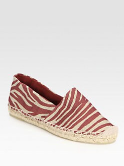 Stella McCartney - Zebra-Print Canvas Espadrilles