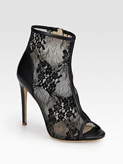 Jerome C. Rousseau - Juda Lace & Leather Ankle Boots