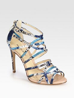 Alexandre Birman - Python Ankle Strap Sandals