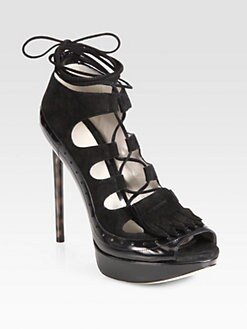 Jason Wu - Bianca Suede Lace-Up Sandals