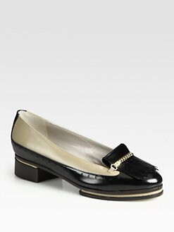 Jason Wu - Joni Fringe Leather Loafer Pumps