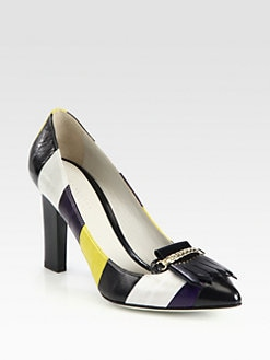 Jason Wu - Karen Striped Leather Pumps