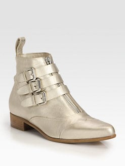 Tabitha Simmons - Early Metallic Leather Ankle Boots