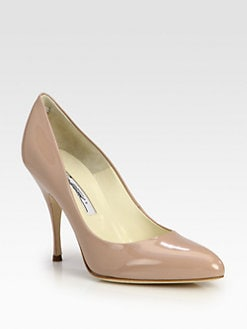Brian Atwood - Starlet Patent Leather Point Toe Pumps