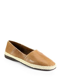 Pollini - Leather Espadrille Flats