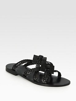 Pollini - Woven Leather Sandals