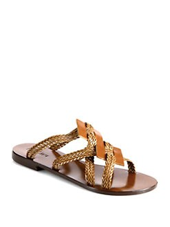 Pollini - Braided Leather Sandals