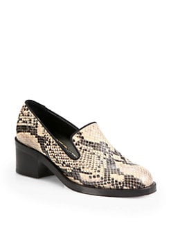 Stella McCartney - Corinne Snake-Print Faux Leather Loafers