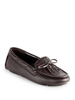 Bottega Veneta - Woven Leather Moccasin Drivers