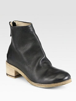 Marsell - Leather Wooden Heel Ankle Boots
