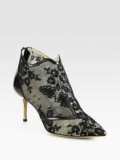 Nicholas Kirkwood - Lace & Leather Ankle Boots