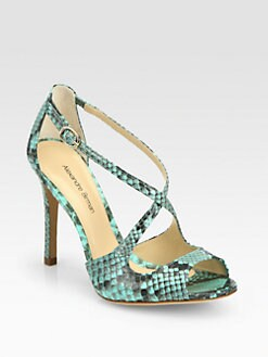 Alexandre Birman - Python Crisscross Sandals