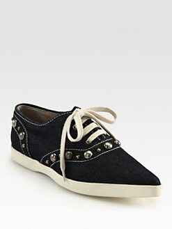 Marc Jacobs - Denim Cabouchon Sneakers