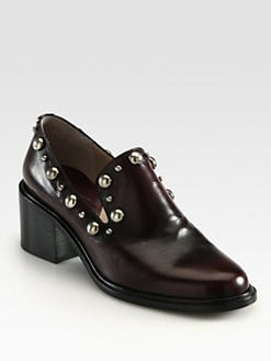 Marc Jacobs - Leather Cabouchon Loafer Pumps