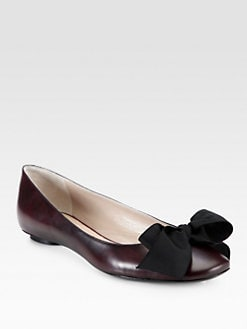 Marc Jacobs - Leather Bow Ballet Flats
