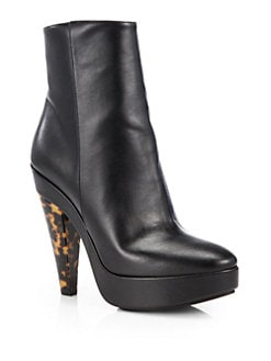 Stella McCartney - Carmen Faux Suede Platform Ankle Boots