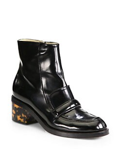 Stella McCartney - Mary Faux Leather Loafer Ankle Boots