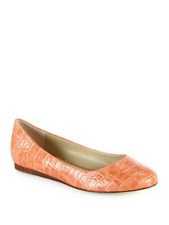 Stella McCartney - Crocodile-Embossed Faux Leather Ballet Flats
