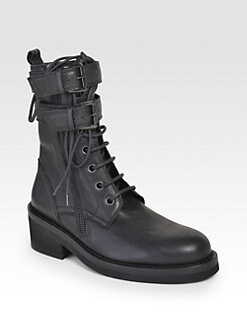 Ann Demeulemeester - Ankle Wrap Combat Boots
