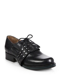 Jil Sander - Studded Leather Lace-Up Oxfords