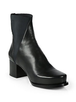 Jil Sander - Stretchy Leather Ankle Boots