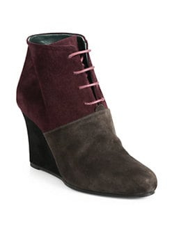 Jil Sander - Suede Lace-Up Wedge Ankle Bootts