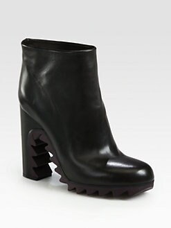 Jil Sander - Leather Sawtooth Ankle Boots
