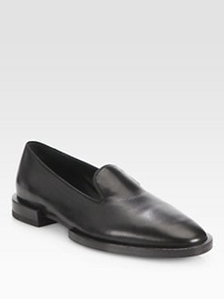 Jil Sander - Leather Smoking Slippers