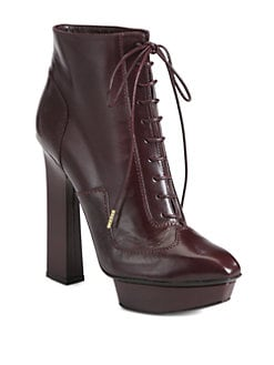 Alexander McQueen - Victorian Leather Lace-Up Ankle Boots