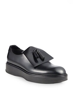 Bottega Veneta - Leather Tassel Platform Loafers