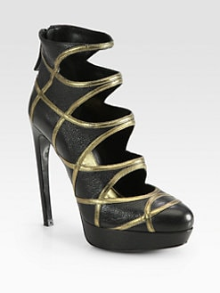 Alexander McQueen - Leather Armadillo Heel Platform Ankle Boots