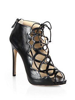 Alexandre Birman - Leather Cage Lace-Up Sandals