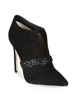 Alexandre Birman - Suede Braided Strap Ankle Boots