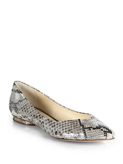 Alexandre Birman - Metallic Python Flats
