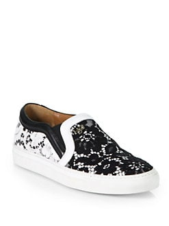 Givenchy - Floral Lace Slip-On Sneakers