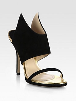 Paul Andrew - Nya Suede Wing Sandals