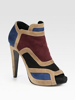 Pierre Hardy - Colorblock Suede Ankle Boots